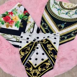 Versatile e' la parola d'ordine !!  Puoi utilizzarlo come top o come foulard !  Abbinalo ad una borsa o come raccogli capelli in piena estate !!!  Disponibili già sul sito i nostri top/ foulard !!  www.penelopenapoli.it 💜
