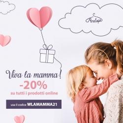 Viva la mamma! ❤️ Dal 7 al 9 maggio, celebriamo tutte le mamme con un pensiero speciale. Sconto del 20% su tutti i prodotti online➡️ LINK IN BIO! Codice Sconto: WLAMAMMA21
